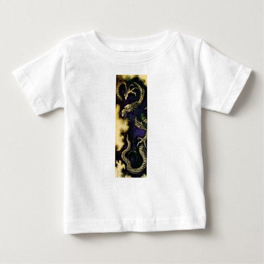 T-shirt Dragão em uma nuvem de chuva