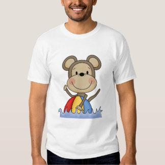 T-shirt e presentes da natação do macaco da praia