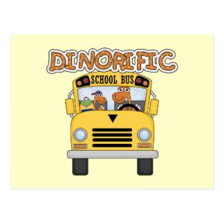 T-shirt e presentes do auto escolar de Dinorific Cartão Postal