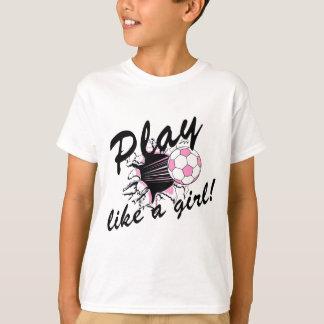T-shirt e presentes do futebol das meninas