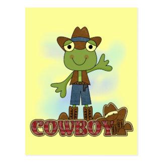 T-shirt e presentes do vaqueiro do sapo cartão postal