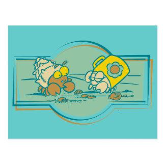 T-shirt e presentes dos caranguejos de eremita cartão postal