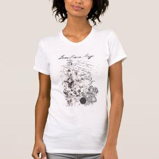 t-shirt efeito usado barroco virgem e anjos