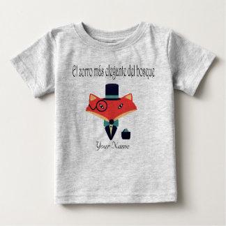 T-shirt elegante do jérsei do bebê da língua