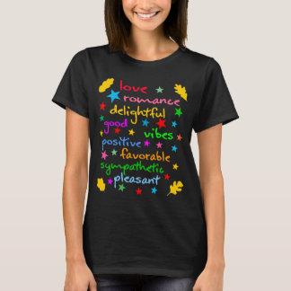 T-shirt Elegante engraçado das palavras positivas