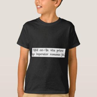 T-shirt Em uma vida precedente eu era um imperador romano
