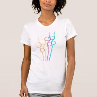 T-shirt encaracolado das palhas