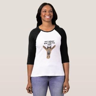 T-shirt engraçado da cabra