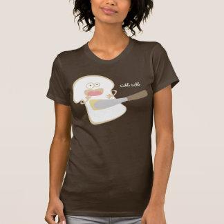 t-shirt engraçado da comida da manteiga das