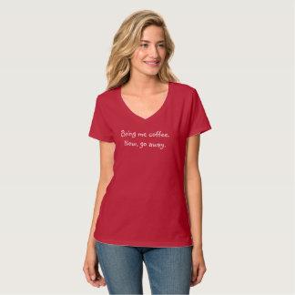 T-shirt engraçado do café