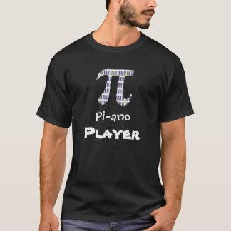 T-shirt engraçados do jogador de piano do ~ do