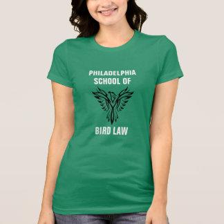 T-shirt Escola de Philadelphfia do verde de Kelly da lei