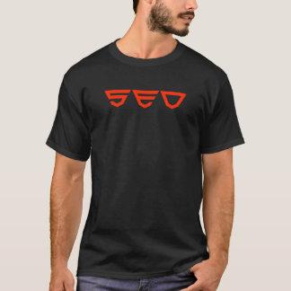 T-shirt escuro de SEO (ESTILO HTML5)