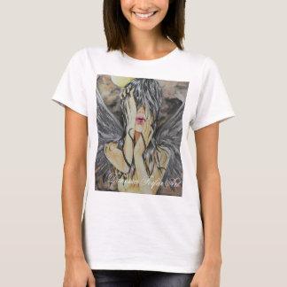 T-shirt escuro do anjo