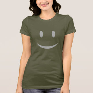 T-shirt escuro do smiley face