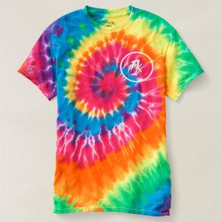 T-shirt espiral da Laço-Tintura dos homens,
