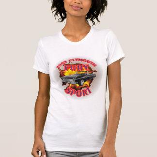 T-shirt Esporte 1963 da fúria de Plymouth das mulheres