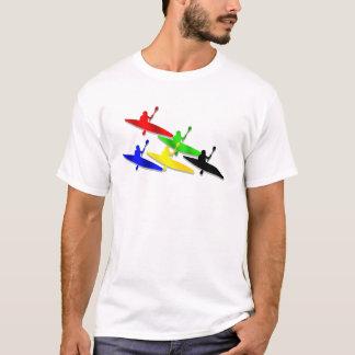 T-shirt Esportes de água Canoeing do kyak da canoa de