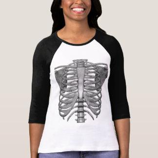 T-shirt esqueleto fácil do traje do Dia das Bruxas
