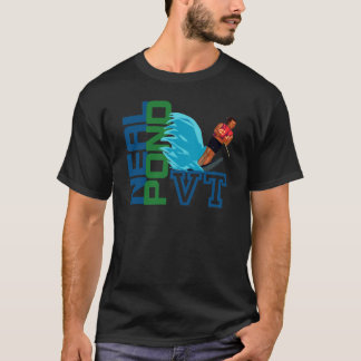 T-shirt Esqui aquático da lagoa de Neal