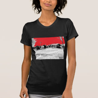 T-shirt Estação de caminhos-de-ferro da estrada de ferro