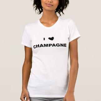 T-shirt Eu amo Champagne