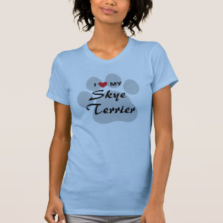 T-shirt Eu amo (coração) meu Skye Terrier