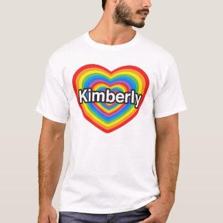 T-shirt Eu amo Kimberly. Eu te amo Kimberly. Coração