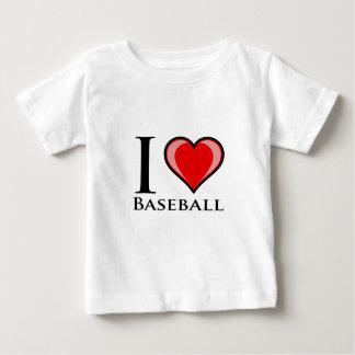T-shirt Eu amo o basebol