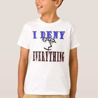 T-shirt Eu nego a tudo o humor legal