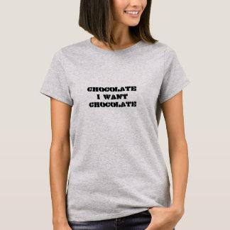 T-shirt Eu quero o chocolate