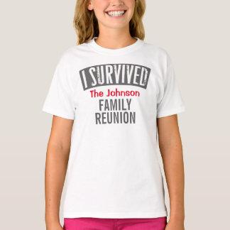 T-shirt Eu sobrevivi - reunião de família - personalizo-a