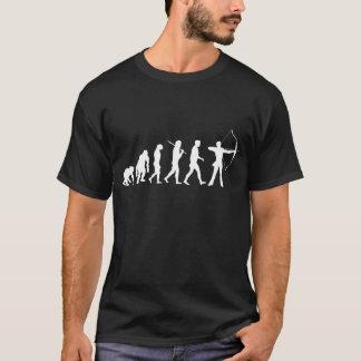 T-shirt Evolução do tiro ao arco de um arco e de uma seta