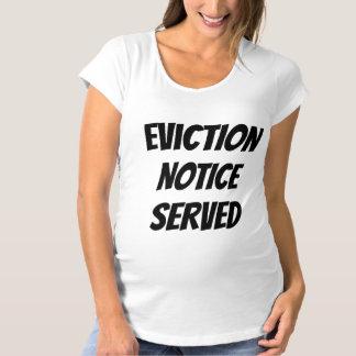 T-shirt Exclusão cómico bebê servido observado da gravidez