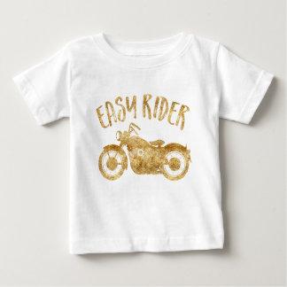 T-shirt fácil do impressão do brilho do ouro do