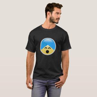 T-shirt feliz americano de Emoji do turbante do