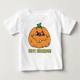 T-shirt feliz da abóbora do menino do Dia das