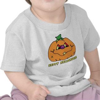 T-shirt feliz da abóbora do menino do Dia das Brux