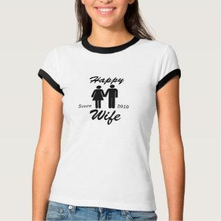 T-shirt feliz da esposa