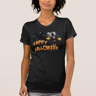 T-shirt feliz das mulheres do Dia das Bruxas Skye