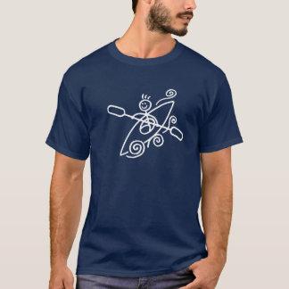 T-shirt feliz do caiaque