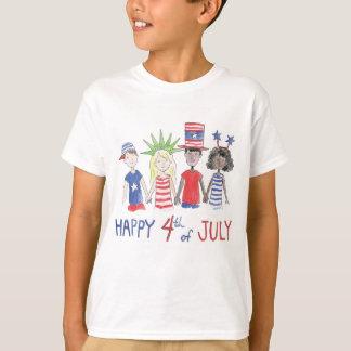 T-shirt feliz do Dia da Independência do 4 de