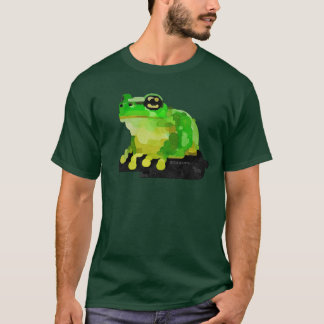 T-shirt feliz do sapo (verde)