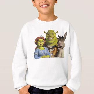 T-shirt Fiona, Shrek, Puss nas botas, e asno