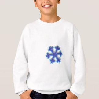 T-shirt Floco de neve azul do grânulo