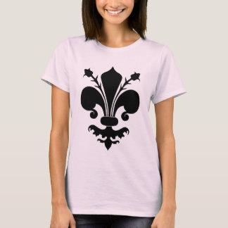 T-shirt Flor de lis preta