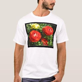 T-shirt Flor vermelha do ranúnculo