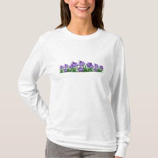 T-shirt floral do açafrão