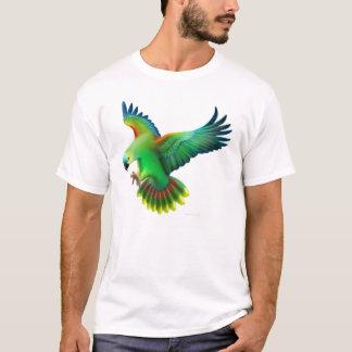 T-shirt fronteado azul do papagaio de Amazon