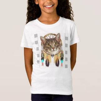 T-shirt Gatinho e nativo americano Dreamcatcher